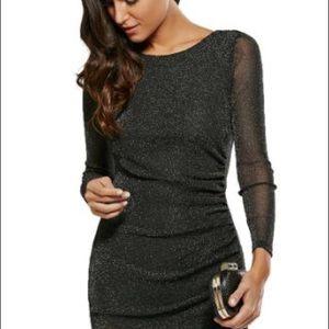 Guess Los Angela's glitter long sleeve dress XS
